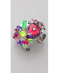 Erickson Beamon - Purple Color Me Crazy Bracelet - Lyst
