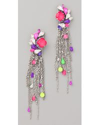 Erickson Beamon - Purple Color Me Crazy Earrings - Lyst