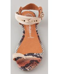 Jeffrey Campbell - Natural Rival Suede Toe Ring Sandals - Lyst