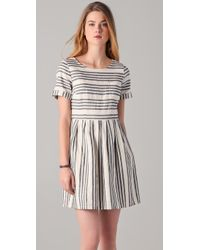 Madewell - Blue Striped Avalon Dress - Lyst