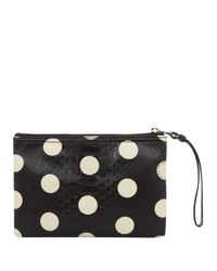 Marc By Marc Jacobs | Small Black Polka Dot Snakeskin Pouch | Lyst