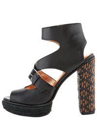 Marc Jacobs - Black Woven-heel Sandal - Lyst