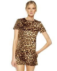 Michael Kors | Multicolor Leopard-print Mini Shorts | Lyst