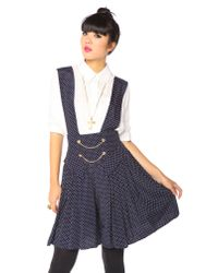 Nasty Gal | Blue Chained Dot Overalls | Lyst