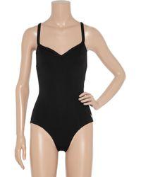 Nina Ricci | Black V-Neck Swimsuit | Lyst