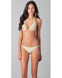 OndadeMar   Natural Riviera Colors String Bikini Top   Lyst