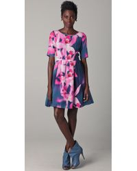 Peter Som - Blue Orchid Dress - Lyst