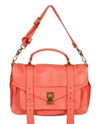 Proenza Schouler | Pink Ps1 Medium Lux Leather Satchel | Lyst