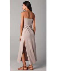 Splendid | Natural Maxi Skirt / Dress with Slit | Lyst