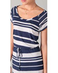 Splendid - Blue Maritime Stripe Maxi Dress - Lyst