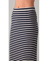 Tibi - Blue Horatio Striped Pencil Skirt - Lyst