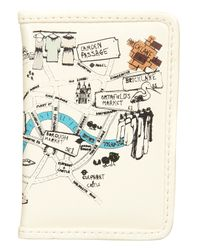 TOPSHOP | Natural London Map Travel Card Holder | Lyst