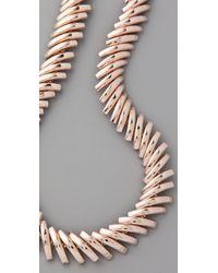 Tuleste - Metallic Macaroni Necklace - Lyst