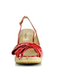 Valentino | Red Mena Patent Espadrille Slingback | Lyst