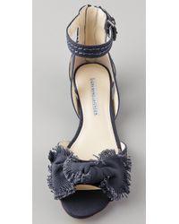 Vera Wang Lavender - Blue Leni Canvas Bow Sandals - Lyst
