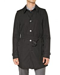 Burberry - Black Single Breasted Cotton Trench Coat for Men - Lyst