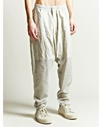 Damir Doma | Natural Mens Paros Drop Crotch Trousers for Men | Lyst