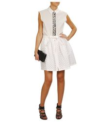 Fendi | White Laser-cut Cotton-silk Lattice Skirt | Lyst