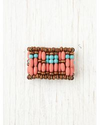 Free People - Pink Beaded Ponytail Cuff - Lyst