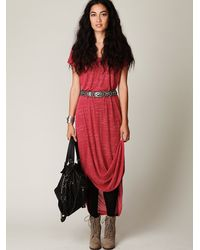 Free People   Red Lazy Day Tee   Lyst