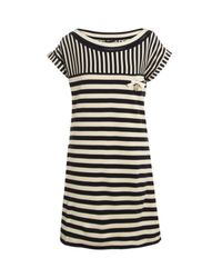 Love Moschino | Blue Nautical Striped Dress | Lyst