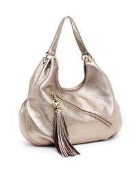 Michael Kors | Metallic Charm Tassel Large Shoulder Tote | Lyst