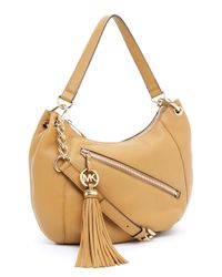 Michael Kors - Brown Charm Tassel Convertible Shoulder Bag, Tan - Lyst