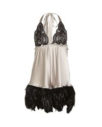 Myla | Natural Gina Feathered Chemise | Lyst