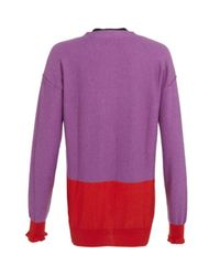 Sonia by Sonia Rykiel | Purple Colour Block Cardigan | Lyst