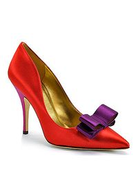 kate spade new york | Purple Latrice Colorblock Satin Pump | Lyst