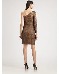 Akris - Brown Patchwork Lace Dress - Lyst
