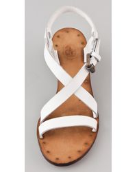 Ash - White Orchid Wedge Sandals - Lyst