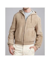 Brunello Cucinelli | Natural Ecru Suede Hooded Jacket for Men | Lyst