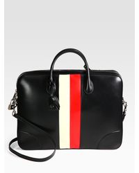 Gucci | Black Leather Briefcase for Men | Lyst