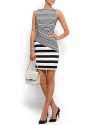 Mango - Black Combi-stripes Dress - Lyst