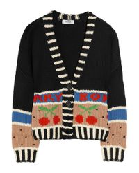 Sonia by Sonia Rykiel | Multicolor Cherry Bomb Chunky-knit Cotton Cardigan | Lyst