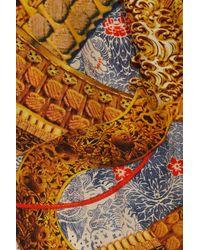 Alexander McQueen - Orange Samurai Printed Silk Harem Pants - Lyst