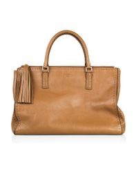 Anya Hindmarch | Brown Pimlico High Shine Leather Bag | Lyst