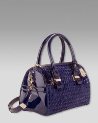 Cole Haan - Black Heritage Weave Patent Bag - Lyst