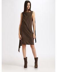 DRKSHDW by Rick Owens   Gray Cotton Dress   Lyst