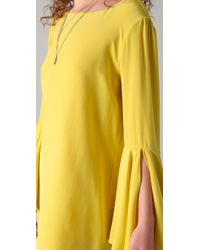 Elizabeth and James | Yellow Mabel Bell-sleeve Dress | Lyst