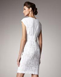 ESCADA | White Lace Cap-sleeve Dress | Lyst