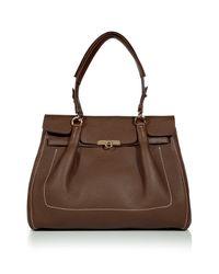 Ferragamo | Brown Espresso Fara Shoulder Bag | Lyst