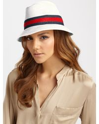 Gucci | Natural Trilby Hat | Lyst