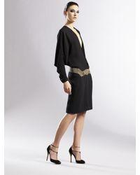 Gucci - Black Silk Kimono Dress - Lyst