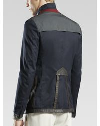 Gucci - Blue Equestrian Jacket for Men - Lyst