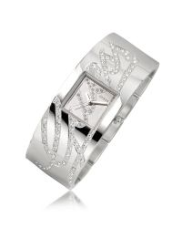 Guess   Metallic Autograph - Crystal Signature Mirror Dial Watch   Lyst