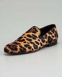 Jimmy Choo - Multicolor Leopard-print Calf-hair Loafer for Men - Lyst