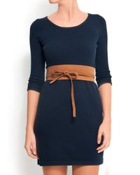 Mango - Brown Touch - Leather Obi Belt - Lyst