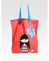 Marc By Marc Jacobs | Red Miss Marc Nylon Packable Tote Bag | Lyst